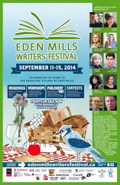 Eden Mills Writers poster-splash2014