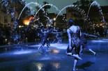 Modern Dance Artists in a fountain